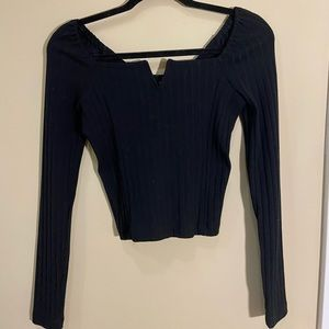 Free people square neck wire long sleeve